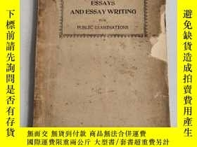 二手書博民逛書店ESSAYS罕見AND ESSAY WRITING(作文論文與作文)1934年版,沒後封面Y6318 PUBL