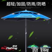 釣魚傘 釣魚傘2.2/2.4米萬向雙層戶外防曬紫外線防風雨太陽垂釣超輕漁具 童趣屋