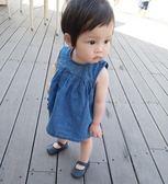夏季新品女寶圓領背心裙休閒薄款嬰兒裙子