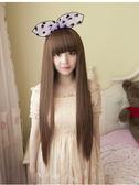 【WAK】假髮女 長直髮自然逼真 蓬鬆長直修臉 甜美齊劉海假髮直髮長髮
