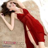 蕾絲吊帶睡裙極度性感睡衣誘惑