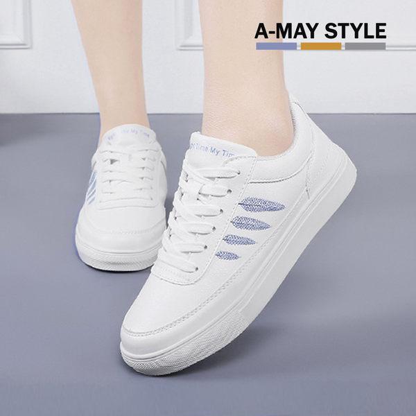 小白鞋-清新質感葉子休閒鞋