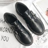 牛津鞋復古小皮鞋女英倫風ins潮學生秋款單鞋chic魔術貼學院牛津鞋 聖誕交換禮物