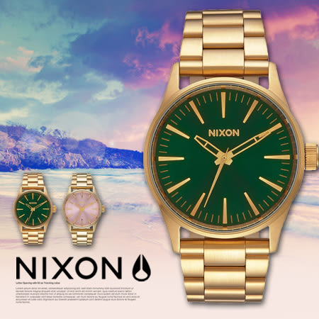 NIXON THE SENTRY 38 SS 38mm 日本機芯 男女兼用 A450-1919 現貨+排單