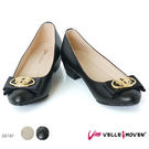 亮面漆皮製作中低跟淑女鞋 舒適優雅氣質金屬飾面