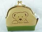【震撼精品百貨】MILK TEDDY _泰迪熊 ~ 皮製零錢包『米&綠』