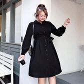 【YPRA】胖妹妹春裝女裝2020新款胖女人大碼遮肚連身裙收腰顯瘦