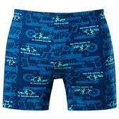 DADADO-演習 M-3L 印花平口內褲(藍)GH7297-BU