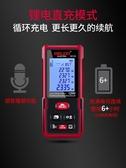 電氣測距儀激光紅外線測距儀高精度手持充電電子尺測量儀露露日記