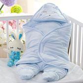嬰兒睡袋 嬰兒抱被睡袋新生兒包被春秋冬季純棉初生小被子寶寶加厚款 可卡衣櫃