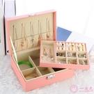 收納盒初行首飾盒公主歐式韓國木質帶鎖耳釘耳環簡約首飾收納盒飾品盒大