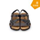 【A.MOUR 經典手工鞋】兒童涼拖鞋系列-黑 / 涼拖鞋 / 平底鞋 / 防潑水PVC  /DH-3011