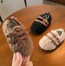 兒童鞋 寶寶棉鞋冬季兒童兒童軟底防滑二棉鞋子女童加絨春保暖豆豆鞋【快速出貨八折下殺】
