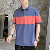 短袖T恤男士夏季薄款2021年新款INS潮牌寬松POLO領半袖上衣服男裝