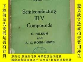二手書博民逛書店semiconducting罕見III-V compounds(P1166)Y173412