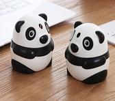 自動牙籤盒 可愛個性創意卡通熊貓牙簽筒自動按壓式牙簽盒子家用客廳餐【快速出貨八折下殺】