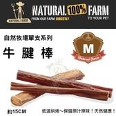 *King Wang*自然牧場100%Natural Farm自然牧場單支系列《牛腱棒-M》犬用零食