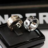 鏈條戒指男女情侶對戒日正韓潮人時尚寬指環歐美食指中指氣質飾品