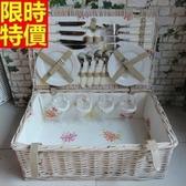 野餐籃 餐具組合-四人份戶外活動郊遊用品68e12【時尚巴黎】