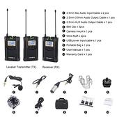 COMICA CVM-WM100 PLUS WM100+ 48頻 100m 全指向性領夾式專業UHF 無線麥克風 【2TX+RX】一對2