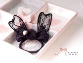 蜜諾菈Minerva‧現貨‧蕾絲兔耳毛球髮束‧編號00349