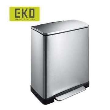 EKO 逸酷緩降靜音不鏽鋼垃圾桶20L 熱銷大容量 適用廚房客廳