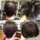 100%真髮 頭頂髮片 短髮專用大網片 ...
