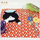 桌墊~雅瑪小舖日系啵啵貓咪包 啵啵貓橘色點點餐桌墊/隔熱墊/桌巾/防塵蓋毯/拼布包包