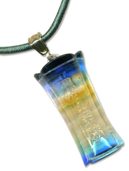 鹿港窯~開運古法水晶琉璃項鍊~升官發財 附精美包裝◆免運費送到家◆