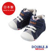 DOUBLE_B 日本製牛仔條紋帆布鞋(靛藍)