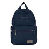 【南紡購物中心】J II 後背包-多隔層防潑水後背包-深藍色-6390-2