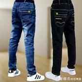 男童牛仔褲冬裝新款兒童加絨褲子潮春秋季中大童洋氣加厚休閒長褲 美眉新品