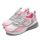 Nike 休閒鞋 Air Max 270 React GS 粉紅 灰 女鞋 大童鞋 氣墊【ACS】 BQ0103-104
