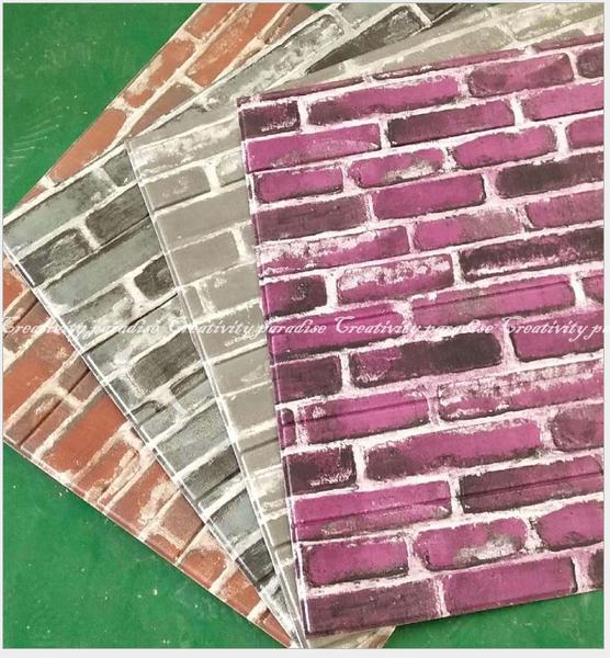 【復古風文化石】韓國3D仿磚塊防水隔音浮雕牆紙壁紙 磚紋牆貼 立體壁貼有背膠 臥室客廳居家