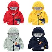 兒童卡通外套 中大童連帽外套 雙層夾克 恐龍造型童裝 QY13319
