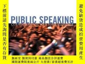 二手書博民逛書店Public罕見Speaking: Connecting You And Your Audience Multim