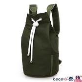 後背包男 2021新款潮帆布包男包水桶包後背包運動大容量健身包水桶籃球包 coco