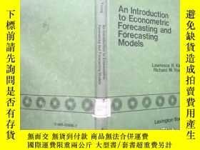 二手書博民逛書店An罕見Introduction to Econometric Forecasting and Forecasti