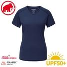 【MAMMUT 瑞士 女 Sertig 短袖T恤《藏青》】1017-00140/運動短袖/排汗衣