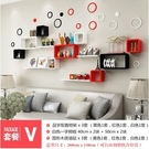 簡約歐式置物架客廳電視背景牆沙發開口櫃臥室房間牆面壁掛裝飾架