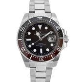 Valentino coupeau黑咖外框不鏽鋼石英錶NEV89