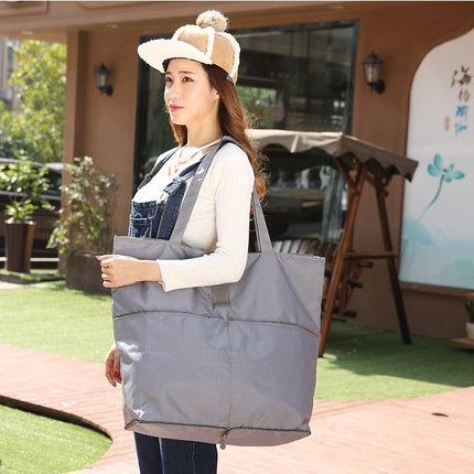 新品促銷 韓版花色旅行收納袋 手提包 可折疊環保購物袋收納整理包 新年特惠