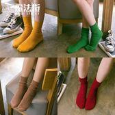 5雙裝堆堆襪女系中筒襪夏季薄款日系學院風  魔法街