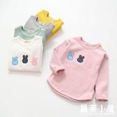 新品上市秋季新款兒童打底衫女童小兔長袖T恤寶寶圓領插肩袖打底上衣