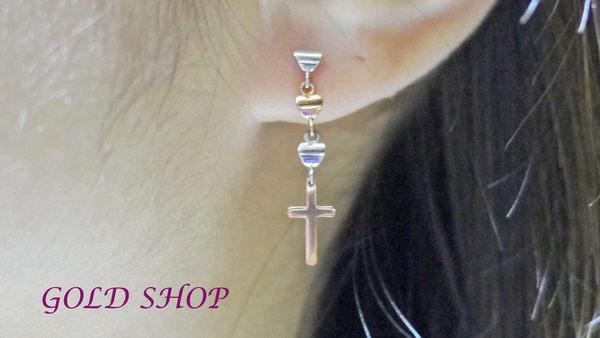 ╭☆ gold shop ☆╯彩K金 玫瑰金 耳環 附白K耳扣 [ ke 003 ]-0.30