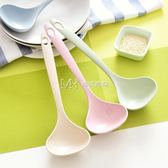 2個裝小麥桿家用長柄盛湯勺創意日式加厚環保塑料稀飯勺粥勺大號  瑪奇哈朵
