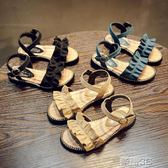 公主鞋 夏季新款女童涼鞋寶寶女孩公主鞋韓版中大童兒童鞋學生沙灘鞋 新品