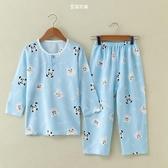 夏季兒童棉綢睡衣套裝 男孩女孩薄款綿綢睡衣 家居服 空調服