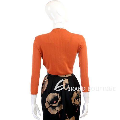 Kristina Ti 橘色花邊設計小外套 0820057-17
