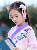 童裝漢服 女童漢服拜年服中國風童裝加絨襦裙女孩復古過年服秋冬裝兒童唐裝 童趣屋 JD